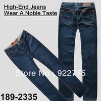 Size:29-40#189-2335,Free Shipping,2013 Fashion Brand High-End Cotton Men Jeans,Dark Color Ripped Whisker Straight Zipper Pants