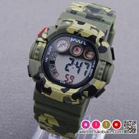 Personalized Camouflage child watch waterproof electronic watch luminous alarm clock mens watch calendar watch