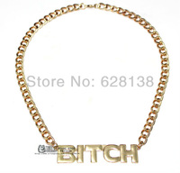 Min Order $10(Can Mix Item) Hotselling Monogram Letter BITCH Chunky Chains Necklace Jewelry Wholesale