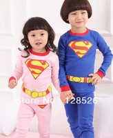 2013 Hot selling 1pcs Christmas Boys Girls Pajama Sets Children Pajama Cotton baby Pijamas kids Free shipping