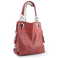 wholesale 2013 women Messager bag cute dress punk deaigners PU leather vintage day clutch hollow out totes  shoulder bags