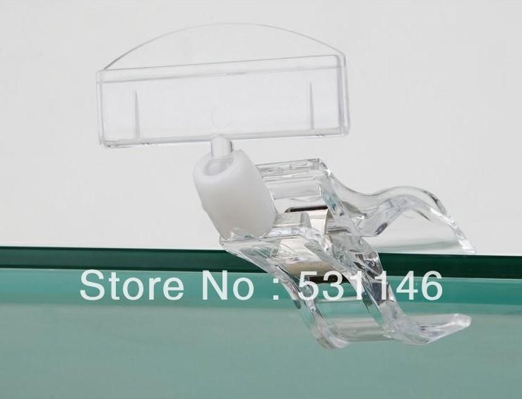 Free Shipping Shelf Clip POP Display Holder High transparency POP Display sign holder(China (Mainland))