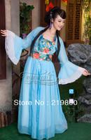 Costume fairies and clothes tang suit hanfu child costume bridesmaid clothes elegant exquisite chiffon skirt