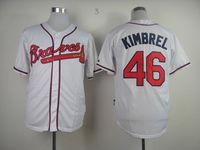 2013 Baseball Jersey Atlanta Braves Baseball Jerseys 46 Craig Kimbrel  cool base jersey, Embroidery Logo, Original Tags