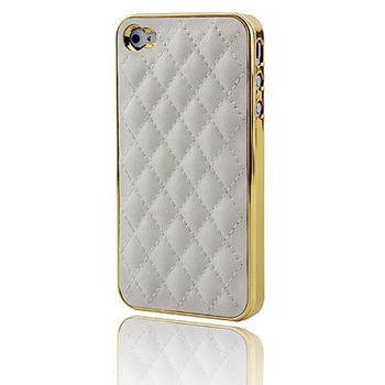 10pc/lot Case With double CC logo Fashion Luxury Design Back Designer Cover and Leather  Case for iPhone4