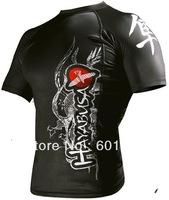 man short sleeve t-shirt Hayabusa Meizuchi Wear the clothes Rashguard fight tops black F004