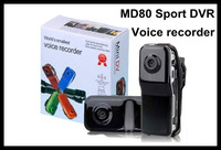 Free shipping MINI sport DV camera,Car MINI DVR recorder MD80 with PC camera function cheapest MINI DV camcorder gadgets gift