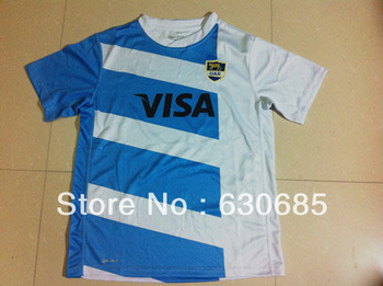 New arrival 13/14 fans version Argentina national team Rugby best quality soccer jersey, Argentina jerseys