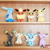 "2015 cheapest Free Shipping 8 PCS/lot  6-8"" FLAREON VAPOREON EEVEE ESPEON JOLTEON Plush Toy pokemon eevee toys for children"