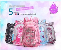 free shipping  Flower child school bag in primary school students school bag male girls backpack ultra-light waterproof
