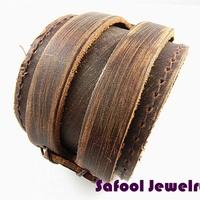 VB057(Min.Order $15)Wholesale 2014 Men Women Bracelets Punk Style Vintage Leather Bracelet Couple Bracelet Gifts High Quality