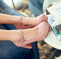 2013 grace think high heel pumps , retro plaftorm  high heels shoes , red sole office lady work heels drop shipping