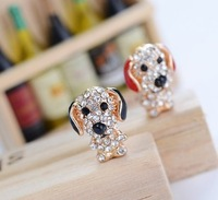 3.5mm Blusmart anti dust plugy cute cartoon dog plug for iphone 4g 4s 5,free shipping