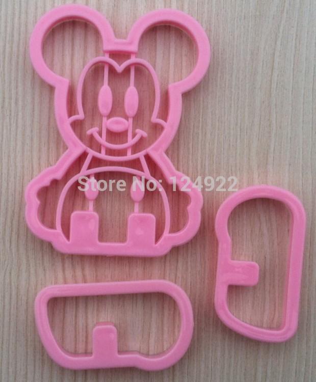 Bolo ferramentas , Mickey NOVO 3D Rato Forma Sugarcraft Cookie Cutter molde Bricolagem Frete Grátis(China (Mainland))