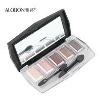 Alobon 5 colorful eye shadow 6g 5 3d color combination