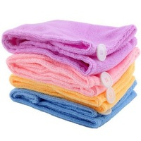 freeshipping: Ladys Magic Hair Drying Towel/Hat/Cap Quick Dry Bath