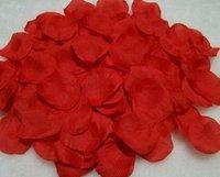 free shipping: 100 X Silk Rose Petals Wedding Flowers Decor Red #2