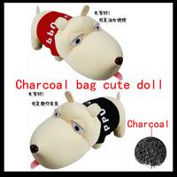 Free shipping Long dog bamboo charcoal dog cartoon bamboo bag pyrolysising car carbon package car smell