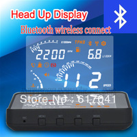 The first bluetooth HUD head up display on ALIEXPRESS wireless connect OBD 2 white led