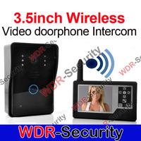 3.5inch Wireless video doorphone Intercom with touch Key monitor