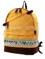 Hot-selling Canvas women's national trend backpack girl's double shoulder bag