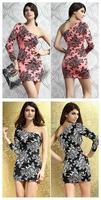 New Arrival! Fashion Dress,Sexy Mini Club wear, One-shoulder dresses, One Size, DL2858