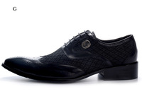 Cheap Hot Sale Men Pointed Toe Formal Shoes Leather Dress Shoes Black / Borwn