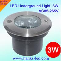 free shipping!3W LED underground lamp led inground light.AC85V-265VCE&RoHS,Buried light