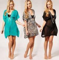 Women's Tamarin V Neck Sequin Chiffon Beach Kaftan Wear Bikini Swim Cover Up Various Color S M L XL