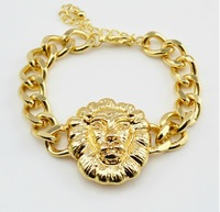 in Order $10(Can Mix Item) Hotselling Chunky Metal Lion Head Chain Bracelets