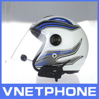 Free shipping!! Motorcycle Motorbike Intercom Helmet Headset  up to 1200 meters for 6 biker bluetooth helmet headstet top-rated
