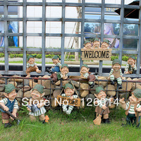 2014 Hot Sale Garden Gnome Elf Home Decorate Garden Decorations Patio Gardening