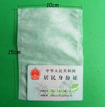 100pcs 100 X150mm Non-woven Fabric, Heat  sealing Empty tea bag, filtering Herb tea, fill with plant powder, milk powder