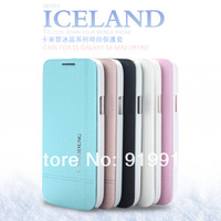 20pcs/l Original Kalaideng ICELAND PU+PC Ultra Flip Cover Leather Case For Samsung Galaxy S4 Mini i9190 DHL Freeship