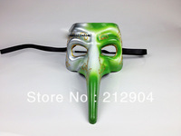Free Shipping 2014 New Style Fashion Creative Long Nose Bird  Face PVC Dancing Party Masks
