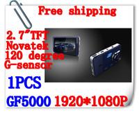 New Arrivals 2.7 Inch TFT LCD1920*1080P Car Camera Recorder Car Dvr GF5000 With G-Sensor HDMI USB+Retail Box Free Shipping