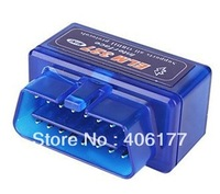 Super Mini ELM327 Bluetooth OBD OBD2 V2.1 for Android Torque work with ELM 327 Car Code Scanner 5pcs/lot