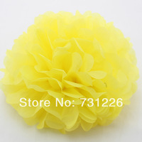 "YELLOW  8 Inch Tissue Paper Pom Poms 8""(about 20cm*36m) , 1pcs/opp bag With 20 Colors For PARTIES, Decorations, FREE SHIPPING"