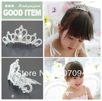 FreeShipping,Wholesale 6 pcs /lots 2013 Wedding Flower girls Tiara Jewelry  Rhinestone Headpieces ,Bridal Hair Accessories
