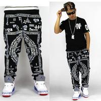 2014 fashion Bandana Print  jogger  men Harem Pants  trousers drop crotch pants men sweatpants