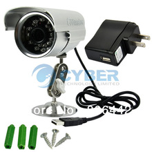 Cheap 2Pcs/Lot Coomatec DVRCam W/R Waterproof Outdoor DVR CCTV Surveillance Camera US Plug TK0921(China (Mainland))