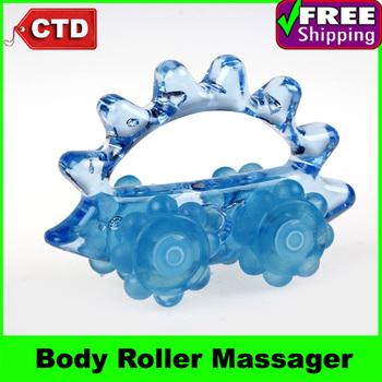 Cartoon Hedgehog Shape Plastic Mini Body Roller Massager