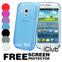 Ultra Thin 0.3mm Matte Frosted Medium Soft PC Back cover case For SAMSUNG GALAXY S3 MINI I8190 Free Shipping Accept wholesale