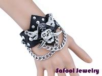 VB220(Min.Order $15)Wholesale 2014 Men Women Bracelets Punk Style Vintage Leather Bracelet Pirate Bracelets Gifts High Quality
