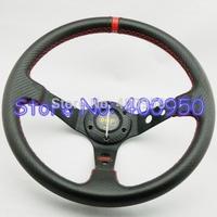 14 inch OMP PVC Steering Wheel Carbon Fiber Look Deep Dish Racing Car OMP Wheel
