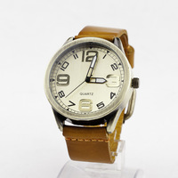 6colors High Quality Genuine Leather Watches ,Number Dial Unisex Men Women Watches with Genuine Strap