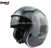 Free shipping/Motorcycle helmet/Jet helmet/ retro 3/4 half helmet/Tanked-Racing helmet/V537/inner visor/ MOMO style helmet