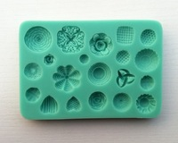 Free Shipping 3D silicone mold, All kinds of patterns chocolate silicone fondant Cake decoration mold tools