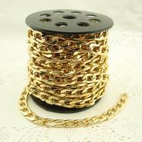 Min order $15 Promtion! DIY jewelry findings 10mm width  Golden & silver Aluminum Chain lots cheap jewelry fingdings  wholesale
