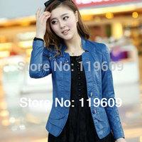 New 2014 Fashion Plus Size Slim PU Leather Jacket Autumn Winter Women Jackets Short Coat Jacket For Women L - 5XL free shipping